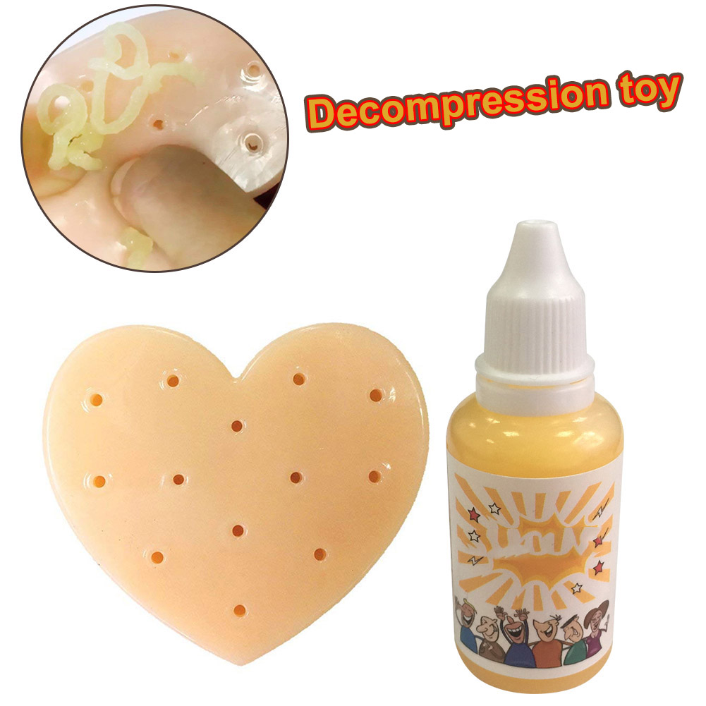 Squeeze Acne Toy Peach Pimple Popping Stress Reliever Popper Remover Stop Picking Your Face Pimples YJS Dropship