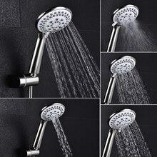 5 funkcji słuchawka prysznicowa matowy nikiel zestaw prysznicowy z wężem zestaw natryskowy montowany na ścianie darmowa wysyłka