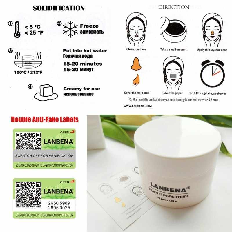 LANBENA Blackhead Remover Mask Pore Strip Nose Black Facial Mask Peeling  Acne Treatment Aloe Black Deep Cleansing Skin Care