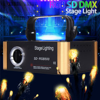 CLAITE 20W 200 Patterns RGB Stage Laser Lighting Lamp DIY Pattern For Display Disco Laser Light Lamp For KTV Pub Party