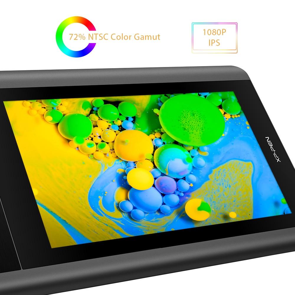 XP-Stylo Artiste 12 tablette de dessin tablette graphique Dessin Moniteur 1920X1080 HD IPS avec Touches de Raccourci et pavé tactile (+ P06) - 3