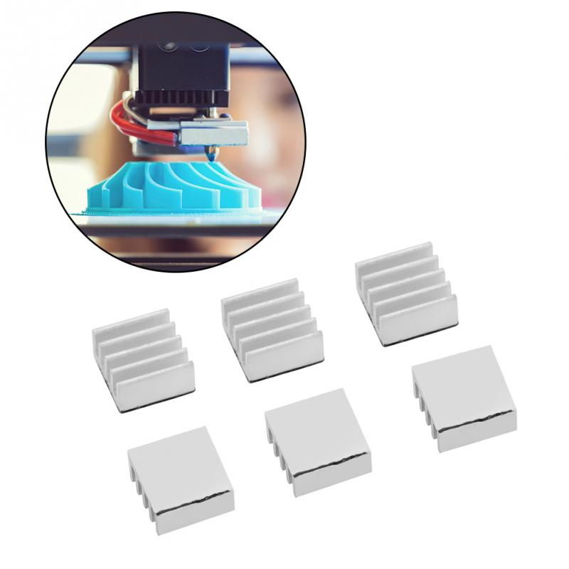 10pcsLot Adhesive Chip Heat Sinks Fast Heat Dissipation for 3D Printer A4988 Heat Sinks Aluminum