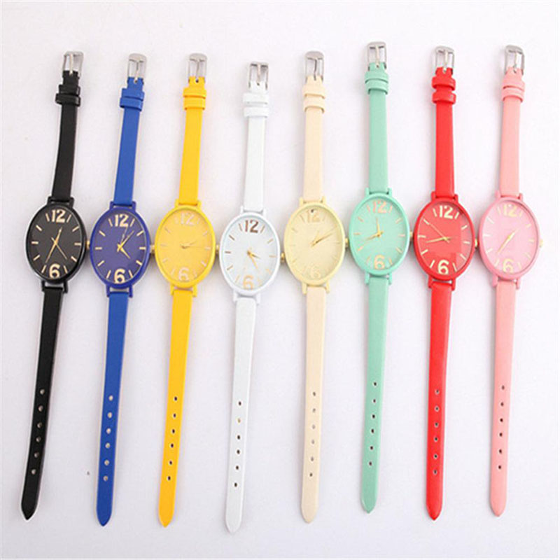 Analog Quartz   quartz watch student watch  Casual Female Sport Stainless Steel  Candy color thin belt  fashion digital faceAnalog Quartz   quartz watch student watch  Casual Female Sport Stainless Steel  Candy color thin belt  fashion digital face