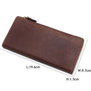 Image 4 - Tauren 100% 本革のクラシック財布最高のクレイジーホースレザーメンズ財布のファッション男性財布