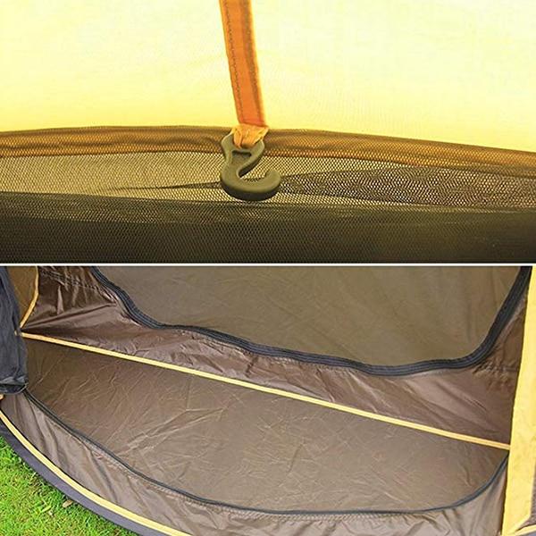 HUILINGYANG 190 T tentes en Polyester imperméable à l'eau rapide tente d'ouverture automatique 3-4 personnes Camping randonnée fournitures de plein air - 4