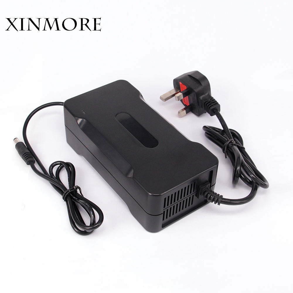 XINMORE Auto-Stop 58.4V 2A Lifepo4 Lithium Battery Charger For 48V Battery Pack Cooling with Fan InsideXINMORE Auto-Stop 58.4V 2A Lifepo4 Lithium Battery Charger For 48V Battery Pack Cooling with Fan Inside