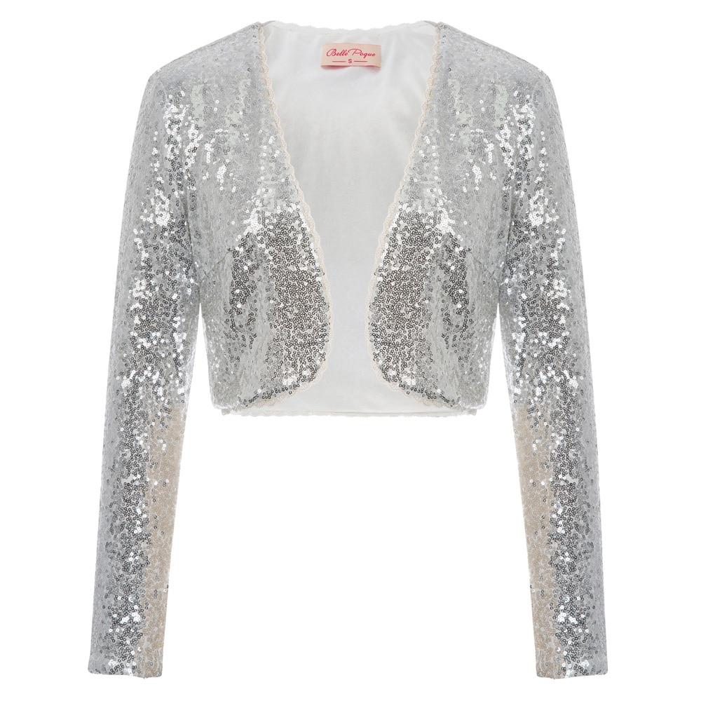 vintage Women short Cardigan half open stitch   Basic   Long Sleeve Open Front Cropped Cotton Coat Tops Bolero Shrug