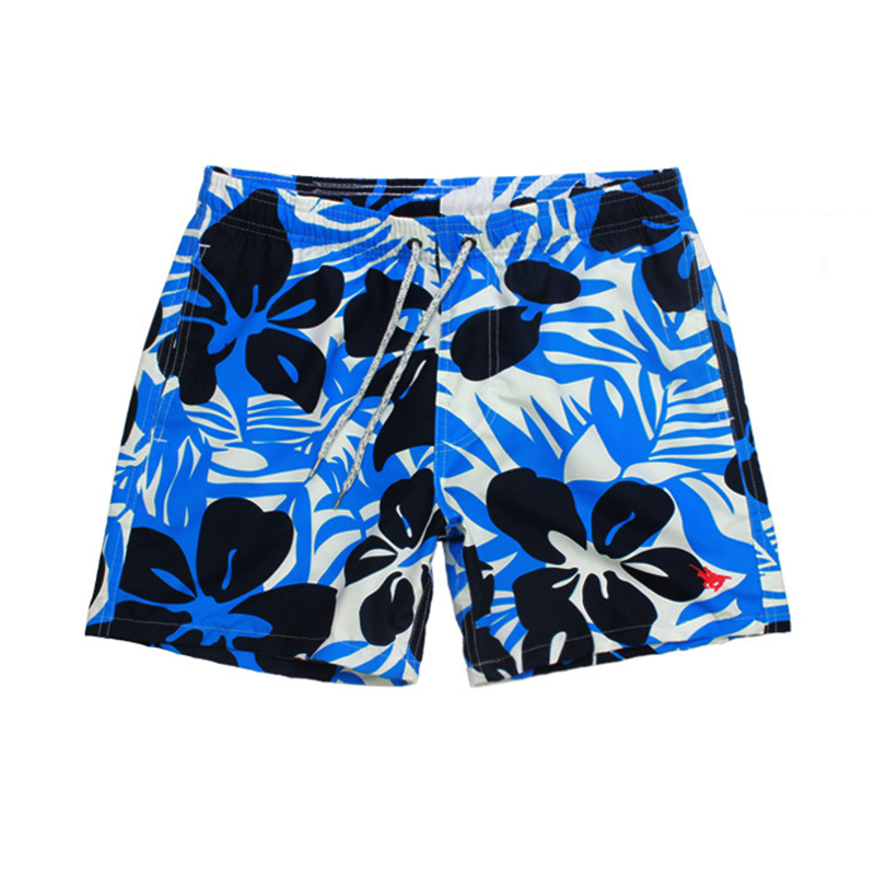 Men's Black Flower Printed   Board     Shorts   Quick Dry Beach Pants Triangle Mesh Lining Surfing   Shorts   Beach Wear Bermuda Surf   Shorts