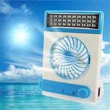 LICE Multi-function Portable Fan Home LED Table Lamp Outdoor Solar Flashlight blue(China)
