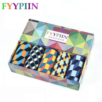 Socks Men Casual  Socks Real Time-limited 2019 Men's Gift Box Colorful Fashion Plaid Business Combed Cotton Socks - DISCOUNT ITEM  32% OFF All Category
