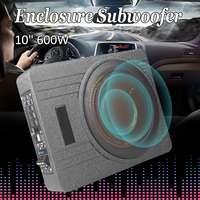 10 дюймов 600 Вт автомобильный супер тонкий активный сабвуфер под сиденьем Sub усилитель автомобиля сабвуферы активный сабвуфер автомобильный