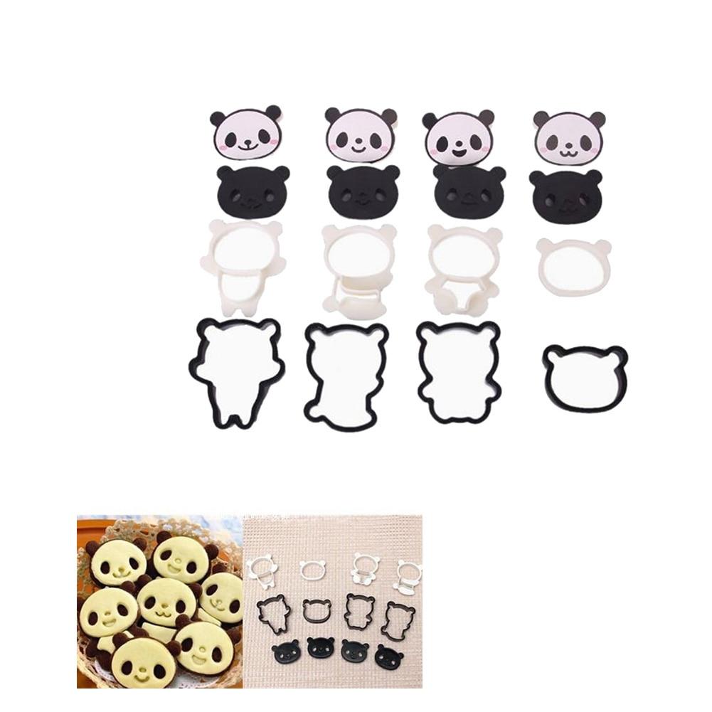 Cake Molds Home & Garden 7 Cartoon Expression Doughnut Panda Shaped Silica Gel Cake Mould