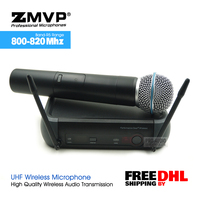 Free Shipping by DHL UHF Professional PGX24 BETA 58 Wireless Microphone Cordless Karaoke System With 58A Handheld Transmitter