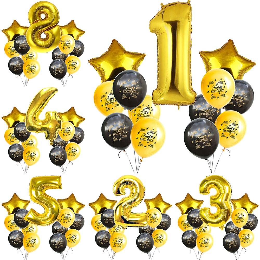 Купить zljq шары из фольги для взрослых с днем рождения 16 18 30 40