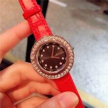 2019 New Designs Rotating Diamond Dial Quartz Watch Waterproof Fashion Rope Strap for Women Jewelry