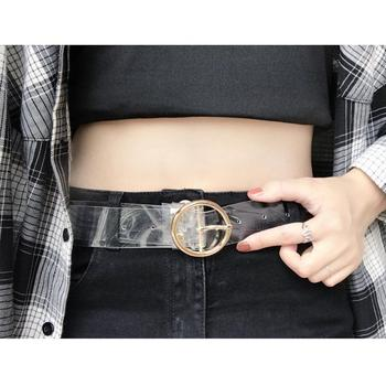 2019 Trend Transparent Belt For Men Women Jeans Dress Decorative Skinny Belt Round Heart Buckle Fashion Casual Wild Waistband