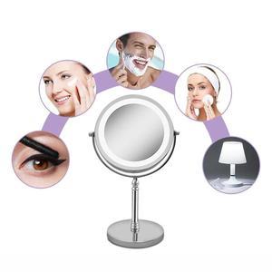 Image 5 - Espejo de maquillaje portátil con luz LED, 7 pulgadas, 10 aumentos, doble cara, 360 grados, giratorio, herramienta cosmética