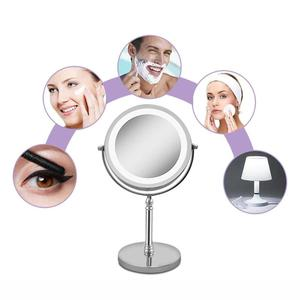 Image 5 - Portable LED Lighted Makeup Mirror 7 Inch 10x Magnification Dual Side 360 Degree Rotating Makeup Mirror Cosmetic Tool For Women