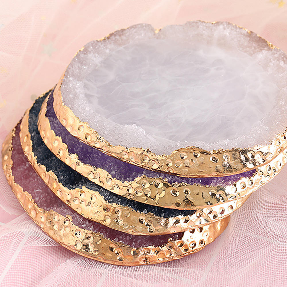 Natural Resin Stone Nail Art Color Palette Acrylic Gel Polish Holder Drawing Paint Dish Glue Display Color Showing Shelf