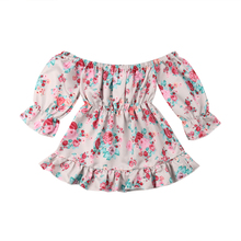 ae4673fcd Buy baby girl off the shoulder dress and get free shipping on ...
