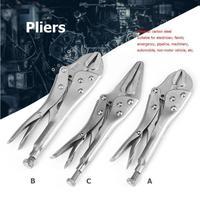 7/9/10 inç karbon çelik kaynak aracı ayarlanabilir çene pense C kelepçe kilitleme yardımcısı sapları pense el aletleri