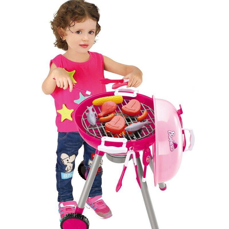 Jeu de jouets de Simulation éclairage son Barbecue variété Barbecue chariot maison de jeu pour les enfants