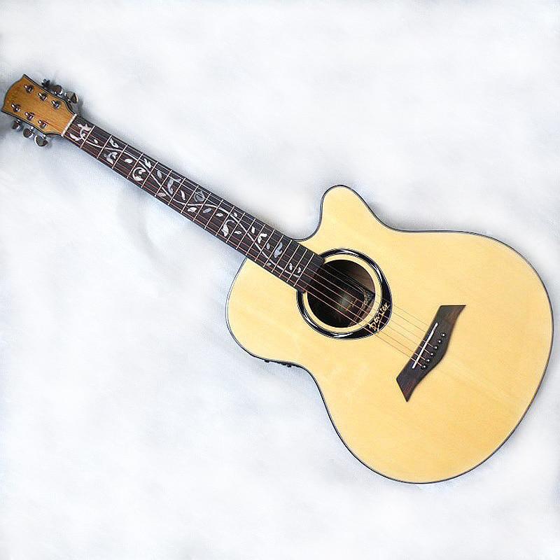 40 pollici di colore naturale acustica eletric della chitarra di trasporto libero40 pollici di colore naturale acustica eletric della chitarra di trasporto libero