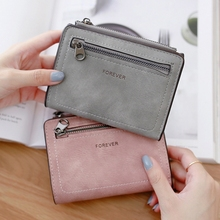 цена на Women Wallet Korean Version Of The Simple Atmosphere Sewing Line Fashion Letter Short Paragraph Wallet