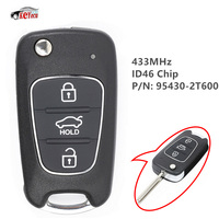 KEYECU 433MHz ID46 Chip P/N: 95430 2T600 Upgraded Flip Folding 3 Button Remote Key Fob for Kia Optima 2010 2012