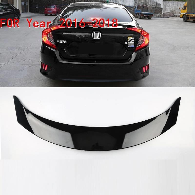 Styling Auto Accessories Mouldings Parts Accessory protector Modified Automovil Upgraded Car Spoilers 16 17 18 FOR Honda Civic in Spoilers Wings from Automobiles Motorcycles