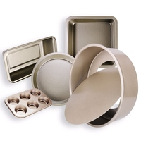 Nonstick Bakeware Set 5 Pieces Carbon Steel Including Springform Pan Muffin Pans Square Baking Pan Pizza Tray Loaf Pan