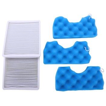 EAS-2x Vacuum Cleaner Dust Filter Hepa Filter + 3xSet Of Filter Cotton For Samsung Sc4300 Sc4470 White Vc-B710W 1pc h11 dj63 00672d dust hepa filter 1 set blue sponge filters for samsung sc4300 sc4470 vc b710w vacuum cleaner spare parts kit