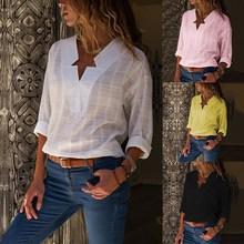 2019 Elegant Plaid Oversized Blouses Long Sleeve Womens Tops And Ladies Loose Office Wear Blusas