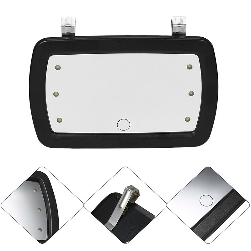Car Sun Visor Interior With Touch Screen Switch 6 LED Mirror Makeup Mirror 2x