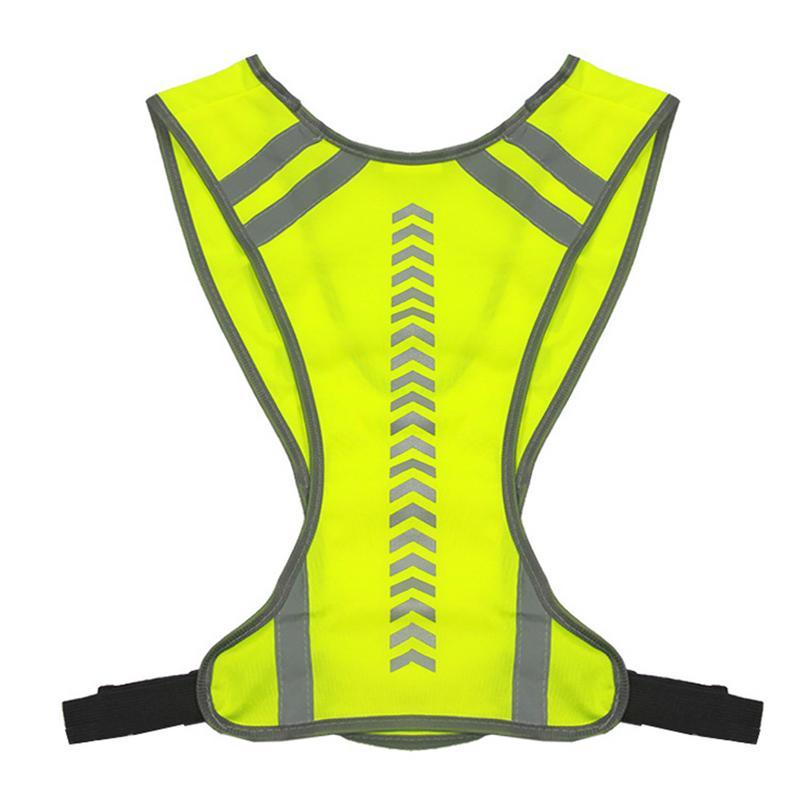 Безопасный светоотражающий жилет для улицы с высокой видимостью для ночного велоспорта, езды на велосипеде, бега, Светоотражающий Жилет унисекс, спортивный жилет для бега
