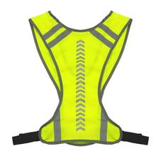 Safety Reflective Vest Outdoor High Visibility Night Cycling Riding Running Reflective Vest Unisex Sports Vest For Jogging new high visibility elastic safety reflective vest belt waistband chaleco reflector for night outdoor running cycling working