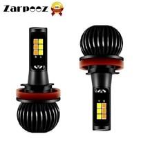 Zarpooz 2 шт. X5 автомобиля светодиодный фонарь комплект H3 H4 H7 H8 H10 H27 HB4 ярко-желтый и синий двухцветный чередование Противот