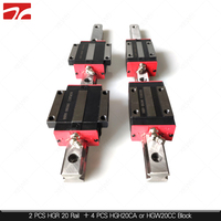 2 шт. линейный рельс HGR20 линейные направляющие 20 мм и 4 шт HGH20CA или HGW20CC линейные направляющие блок HGW20CC HGH20CA carraiages