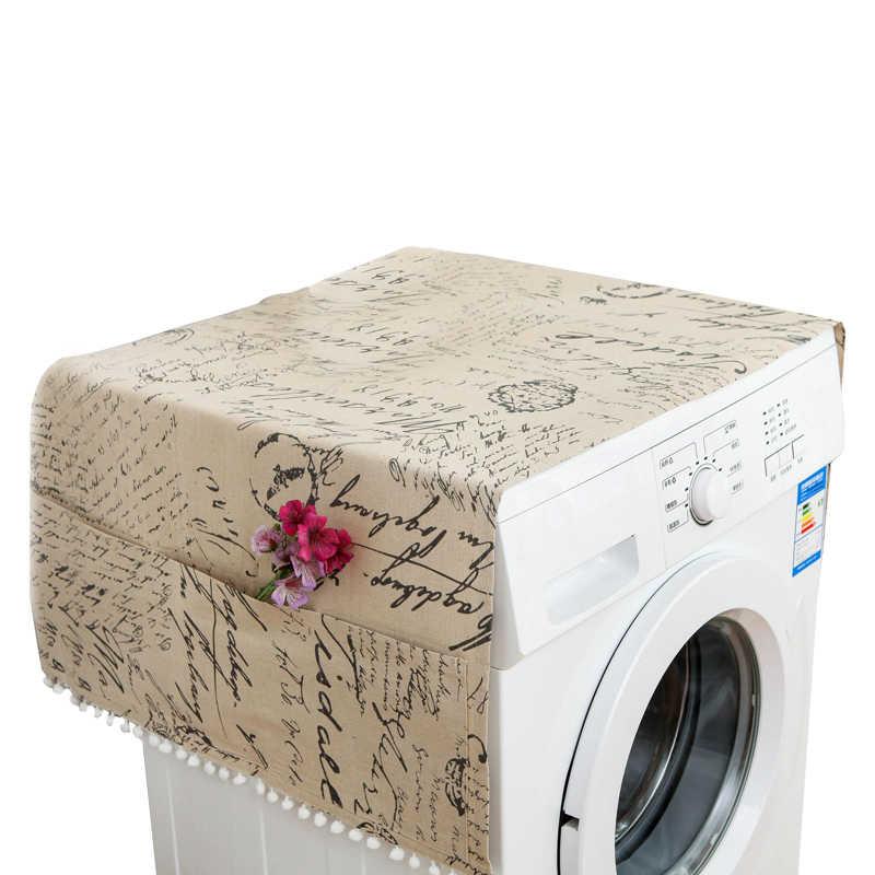 Tampa à prova de Poeira doméstica-Máquina De Lavar Roupa Cobre Geladeira Saco de Armazenamento À Prova De Água de Algodão Bolsos Protetor Acessórios Máscara