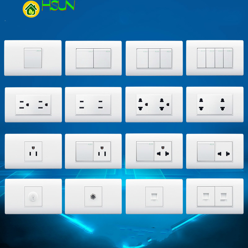 118 type American socket Thailand Vietnam USA Wall TV Dimming Adjust speed switch Computer satellite Doorbe Power supply socket