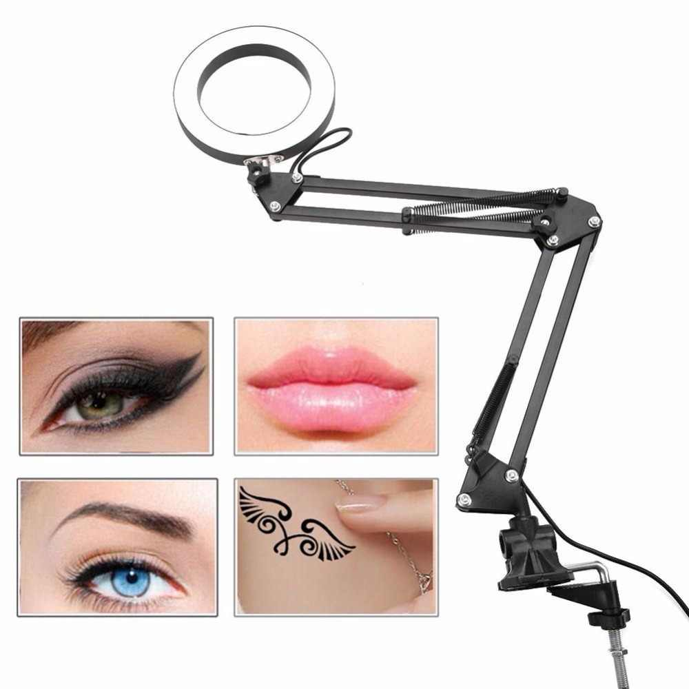 LED Desk Tattoo Lamp Flexible Eye Protection Lamp Metal Hose Lamp with Clip Salon Nail Art Tattoo Tools Accessories