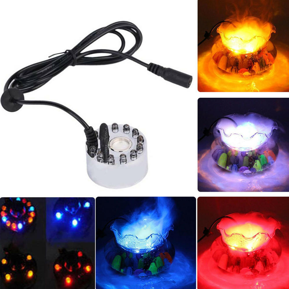 1 stücke Ultraschall Nebel Maker 24 V Vernebler Zerstäuber Kopf Fogger Aroma Lampe mit 12 Lichter für Befeuchter Diffusor Nebel maker