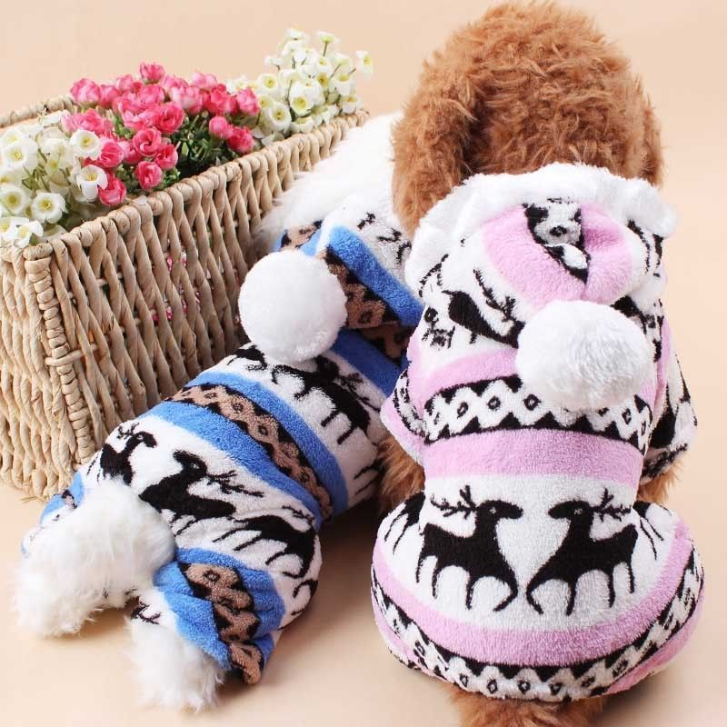 US Stock New Cute Pet Small Dog Cat Puppy Winter Warm Coat Hoodie Jacket Clothes Apparel
