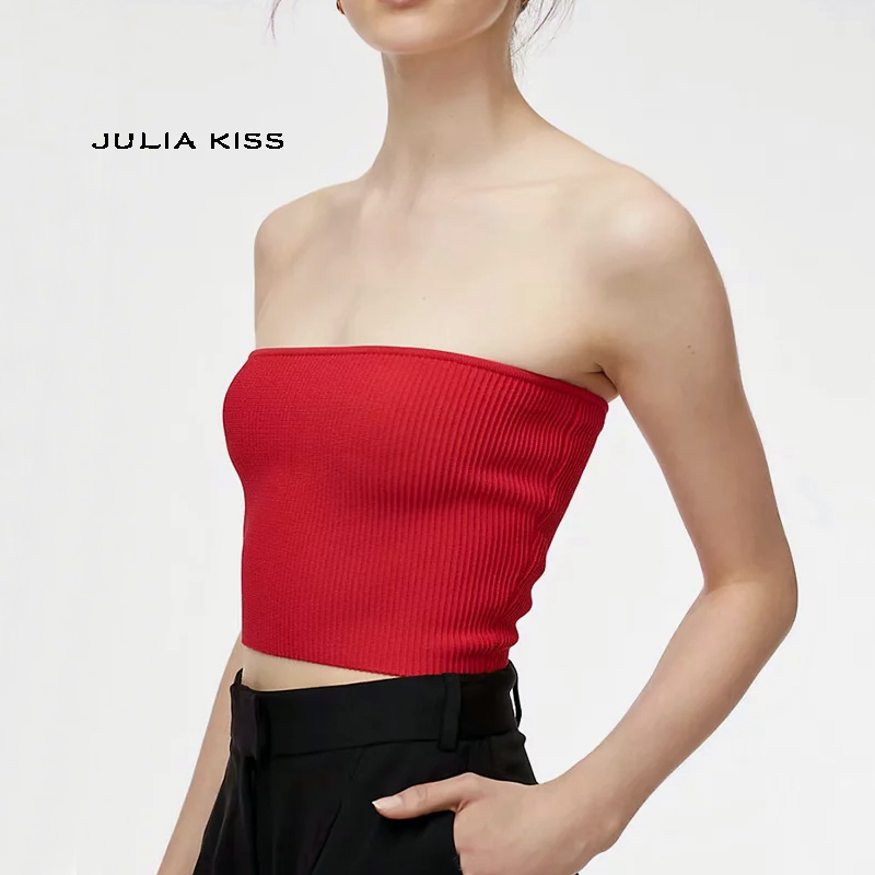 Women Knit Tube Top Bodycon fit Knitting Tube Top