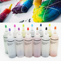 12 Bottle Tulip One Step Tie Dye Kit Vibrant Fabric Textile Permanent Paint Clothing Painting DIY Craft Supply Mayitr