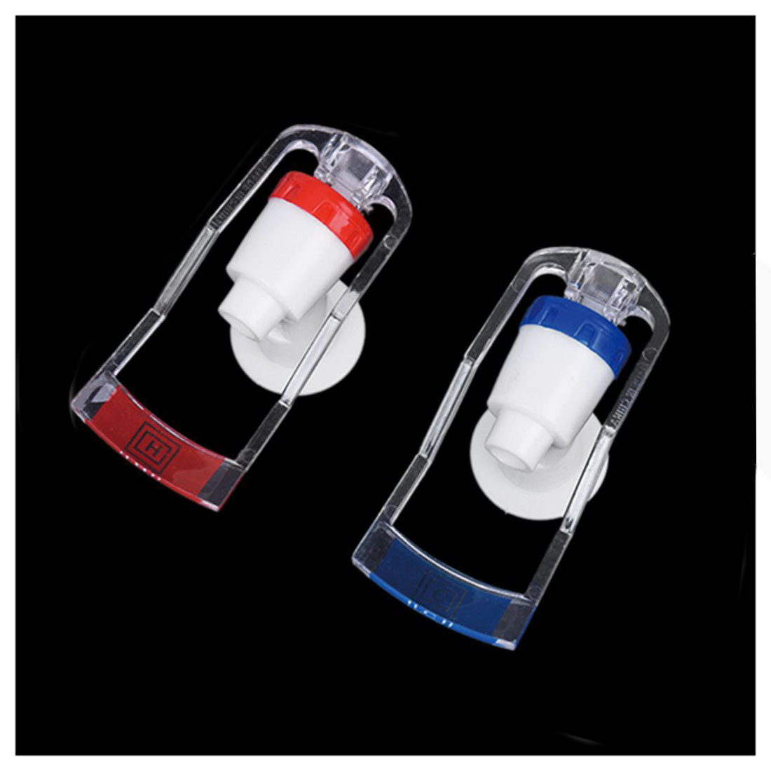 Steady Replacement Push Tap For Water Dispenser Plastic Dispenser White Red Blue (2 Pieces) Traveling