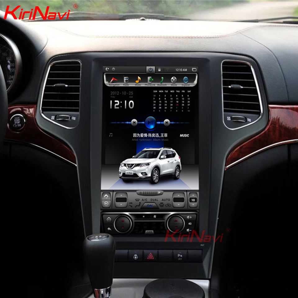 KiriNavi 13.6 écran Android 8.1 pour JEEP grand cherokee voiture DVD Radio Audio GPS Navigation moniteur multimédia jouer 2009-2013