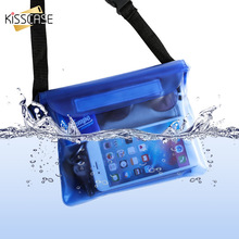KISSCASE Waterproof Pouch Case For Phone Xiaomi Redmi Note 7 K20 Pro iPhone Underwater Swimming Diving Shoulder Waist Bag Cases