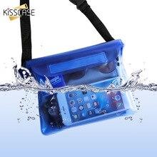 KISSCASE עמיד למים פאוץ מקרה עבור טלפון Xiaomi Redmi הערה 7 K20 פרו iPhone מתחת למים שחייה צלילה כתף מותן תיק מקרי