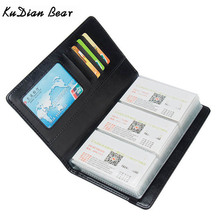 KUDIAN BEAR 120 Cards Business Card Holder Wallet Credit Card Cover Bags Travel Card Organizer Bags Porte Carte BIH098 PM49